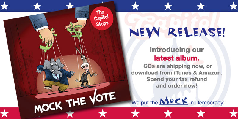 Mock the Vote - Our newest is shipping now on CD and downloadable at iTunes and Amazon.