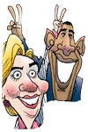 Hillary and Obama