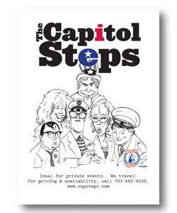Capitol Steps Flyer w/ booking info