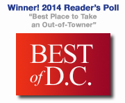 Winner 2013 Reader's Choice from Washington City Paper